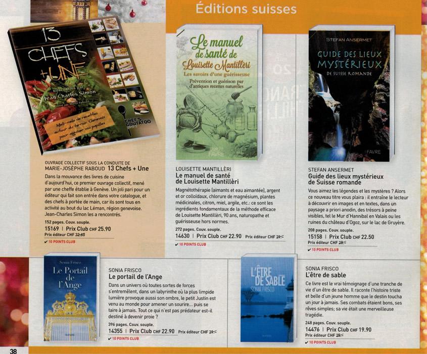Livres de Sonia Frisco au catalogue de France Loisirs Suisse